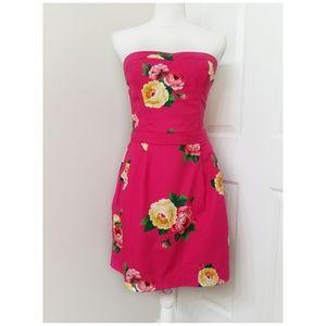 HOLLISTER strapless floral dress